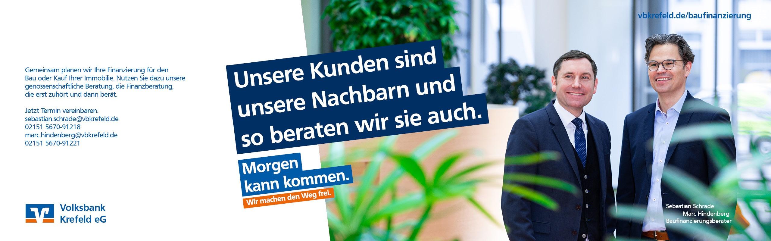 Morgen kann kommen – mit der Volksbank Krefeld