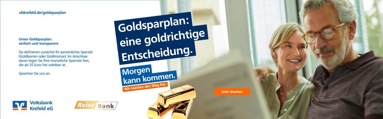 Volksbank Krefeld Goldsparplan: eine goldrichtige Entscheidung